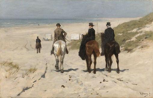 Mauve Anton :  Morgenrit langs het strand