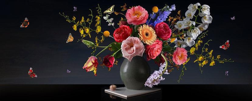 Royal Beauty Panoramic formaat 50x125- dibond met Modern Art kaderlijst afwerkin
