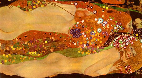Gustav Klimt : Wasserschlangen