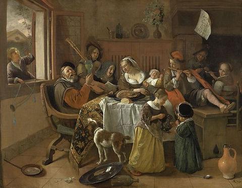 Jan Steen : Het vrolijke huisgezin
