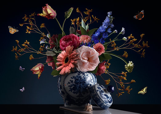 Royal Beauty formaat 80x110-dibond met Modern Art kaderlijst afwerking