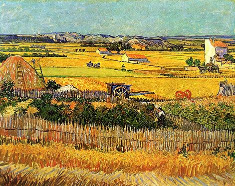 Vincent Van Gogh : Harvest at la Crau 120x92 cm