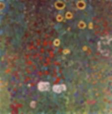 Gustav Klimt : Garten mit Sonneblumen auf Lande