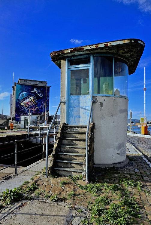 Foto op dibond 80x120cm met ophangsysteem : Oosterweel
