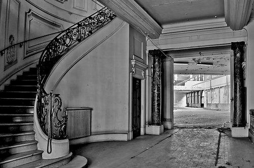 Foto op Diasec 100X70 met ophangsysteem : Stairway