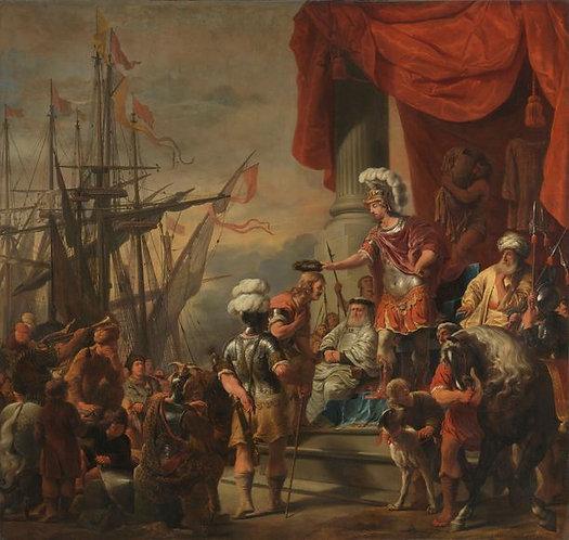 Bol Ferdinand : Aeneas bij Latinus 120x115 cm