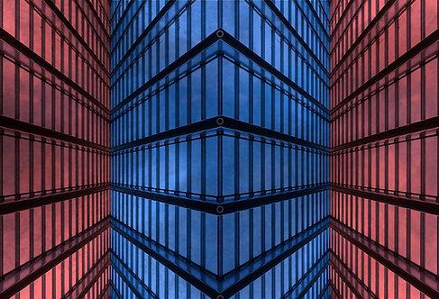 60x90cm Red & Blue