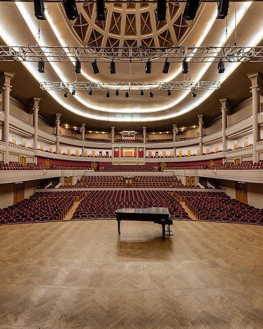 Foto op dibond 100X140 met ophangsysteem : the piano