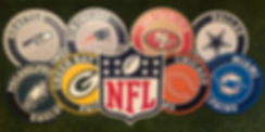 NFL WOODEN BADGES