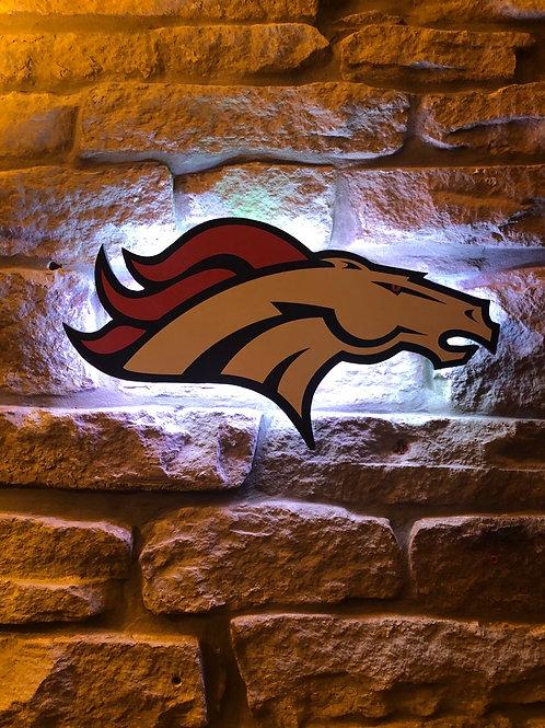 imake NFL Denver Broncos 2020 Logo Wall Light