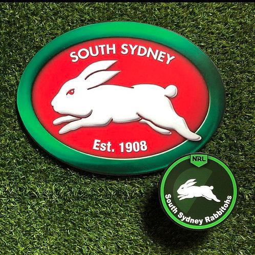 imake NRL South Sydney Rabbitohs Wooden Wall badge