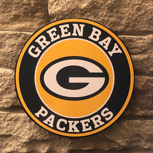 imake NFL Green Bay Packers Wooden Wall Badge