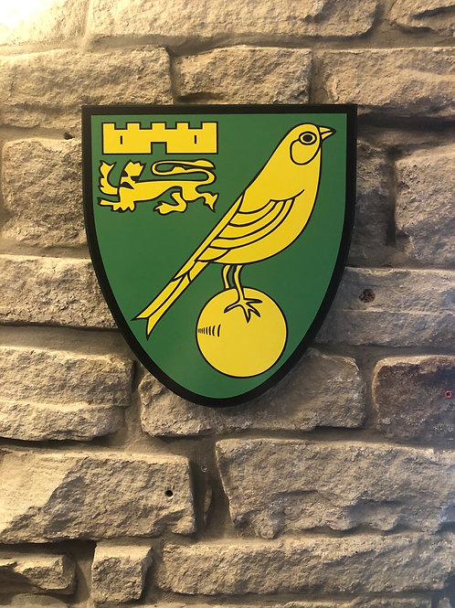 imake Norwich City FC Wooden Wall Badge