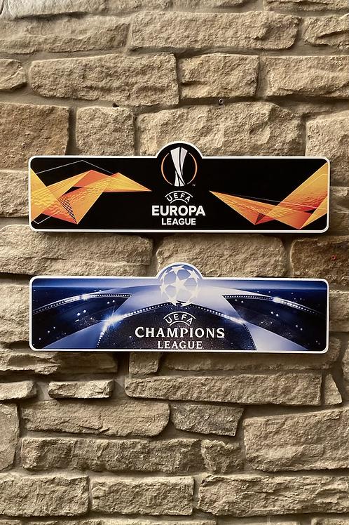 UEFA Europa & Champions League Wall Set