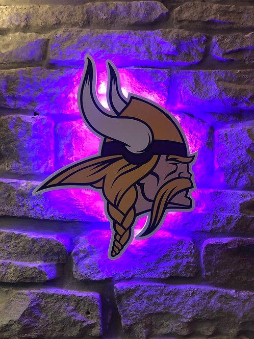 imake NFL Minnesota Viking Wooden Wall Light