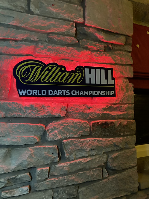 William Hill Darts World Championship Special detail Cut Wall Light