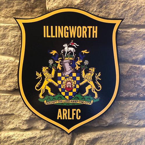 imake Illingworth ARLFC MDF wall badge