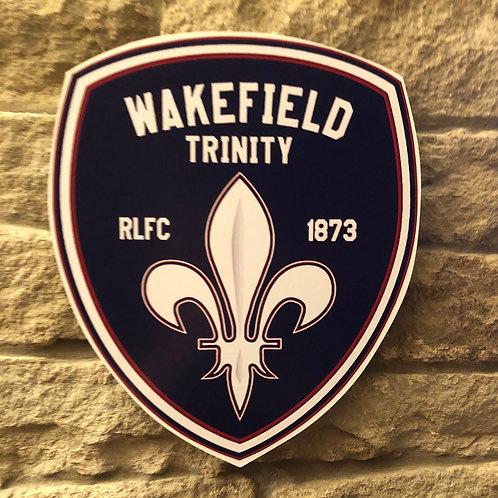 imake Wakefield Trinity RL MDF wall badge