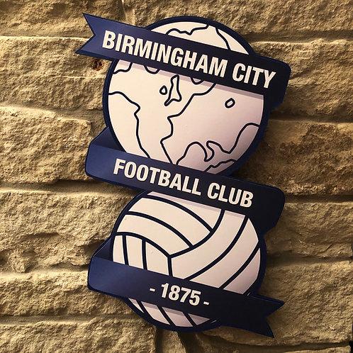 Birmingham City FC Wood wall badge