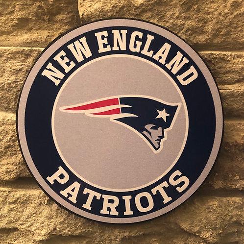 imake NFL New England Patriots Wooden Wall Badge