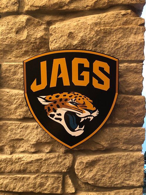 imake NFL Jacksonville Jaguars Wooden Wall Shield