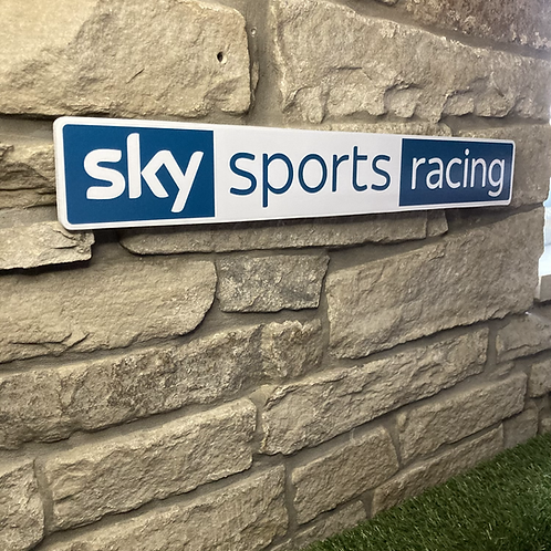 Sky Sports Racing Wooden Wall Sign