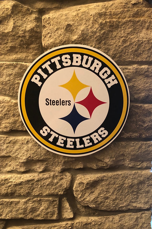 imake NFL Steelers Wooden Wall Badge