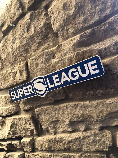 Super League Network Signage Wooden Wall Plaque