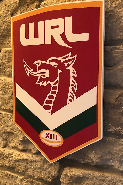 imake Wales Rugby League Wooden Wall badge