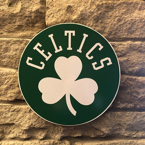 imake NBA Celtics Minimalist Wooden Wall Badge