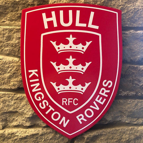 Hull KR RFC Wooden Wall Badge