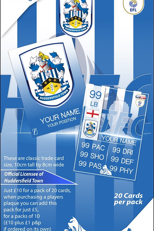 HTFC Classic Football Trade Cards. Exclusive design
