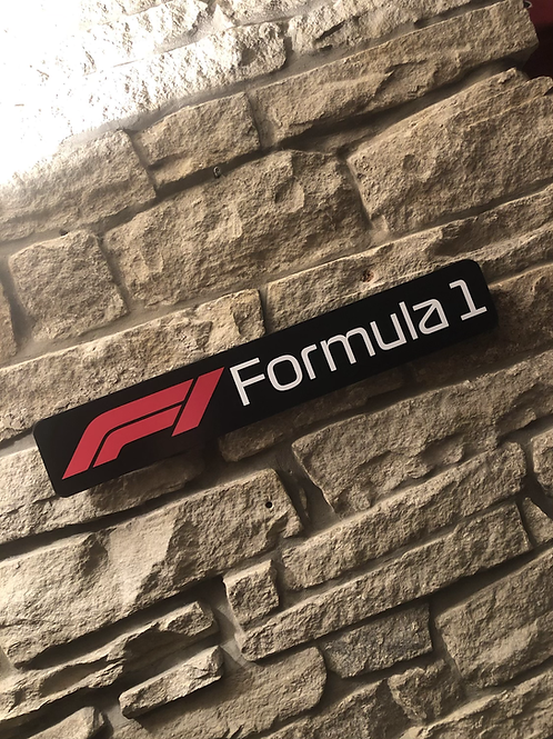 F1 Formula 1 Wooden Wall Sign