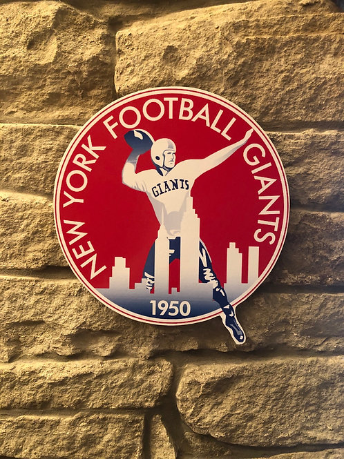 imake NFL 1950 New York Giants Wooden Wall Badge
