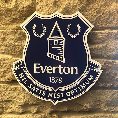 handmade wooden wall Everton FC Badge