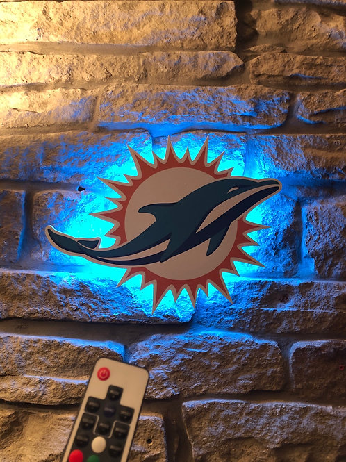 imake NFL Miami Dolphins Wall Light with remote control