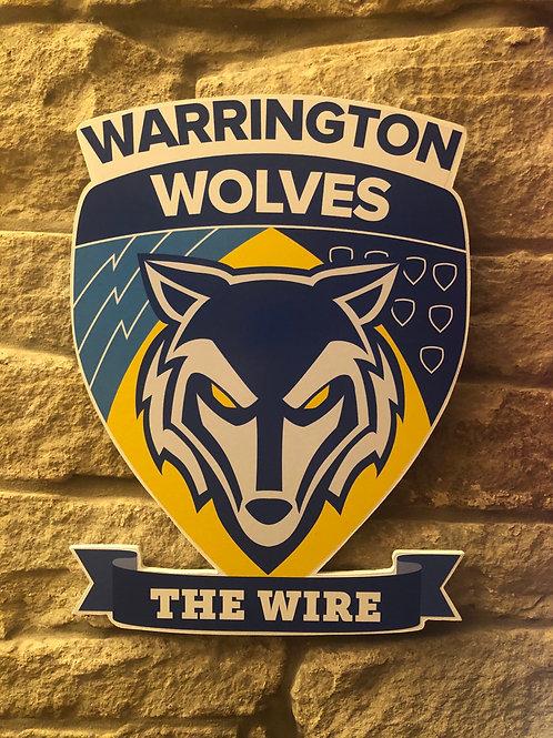 imake Warrington Wolves RL MDF wall badge