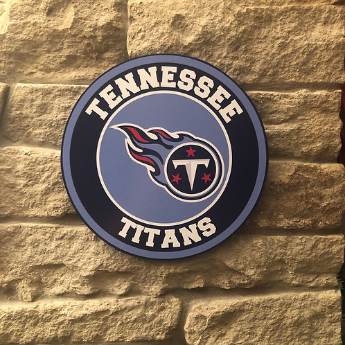 imake NFL Tennessee Titans Wooden Wall Badge