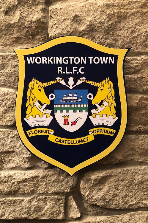 imake Workington Town RL MDF wall badge