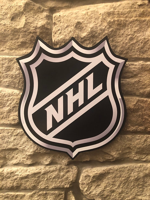 Handmade Wooden NHL Wall Badge