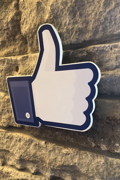 "Handmade Wooden Giant Facebook ""Thumbs Up"""