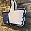"Thumbnail: Handmade Wooden Giant Facebook ""Thumbs Up"""