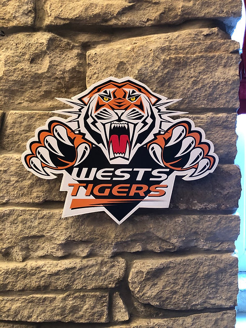 imake NRL West Tigers Wooden Wall badge