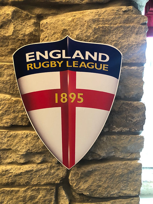 imake England Knights Rugby League Wooden Wall Shield