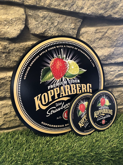 imake kopparberg mixed fruit cider wooden Wall Badge with 2  FREE MATCHING COAST