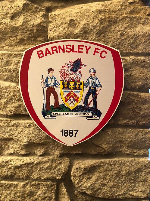 imake Barnsley FC Wooden Wall Badge