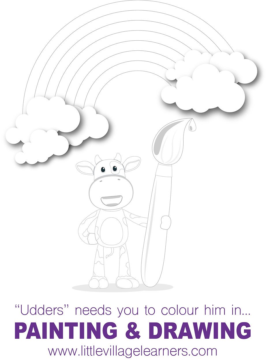 little village learners colouring page .
