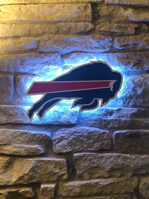 imake NFL Buffalo Bills Wooden wall light with remote Control