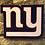 Thumbnail: imake wooden NFL 2020 NY Giants Wall Logo