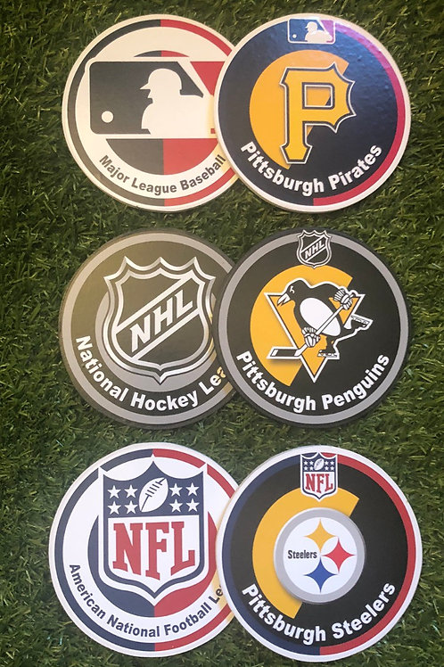 American Sports Coasters / Wall Plates
